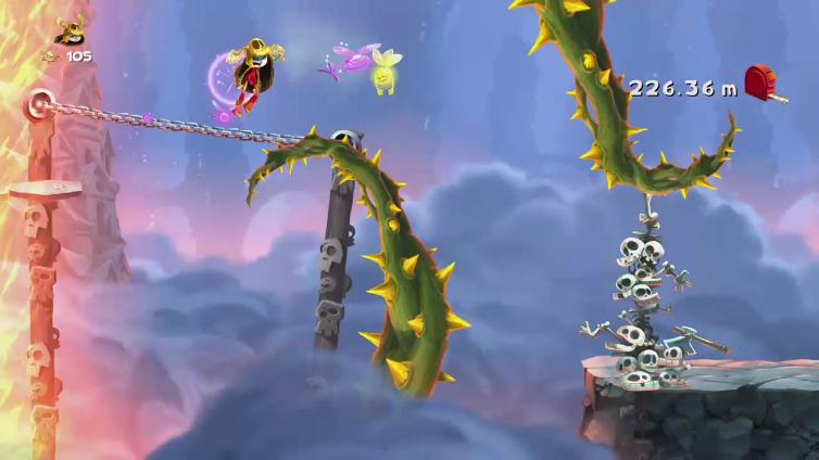 Dark Sonic X6 playing Rayman Legends